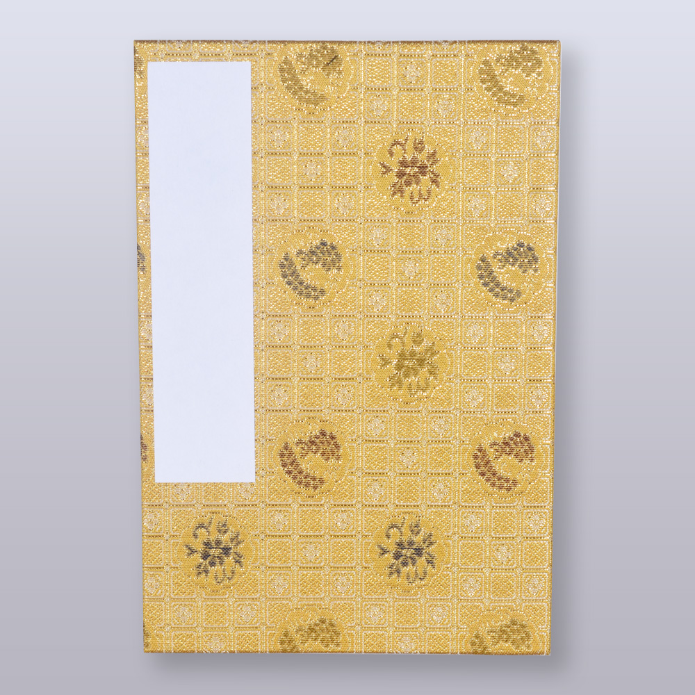Kincha Koshi Komon(Golden brown, fine latticework pattern)