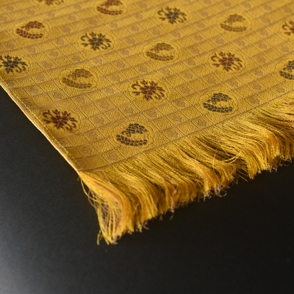 Kincha Koshi-Komon(Golden brown, fine latticework pattern)